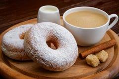 Donuts i kawa Fotografia Stock