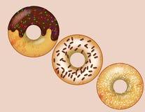Donuts i vektorformat stock illustrationer