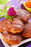 Donuts with icing Stock Photo