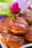 Donuts with icing Stock Photos
