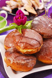 Donuts with icing Stock Image