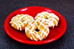 Donuts with Icing and Coconut Protein-Grained Color Royalty Free Stock Photo