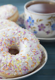 Donuts with icing . Stock Photography