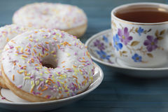 Donuts with icing  . Stock Images