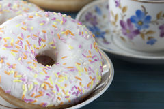 Donuts with icing  . Stock Photos