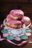 Donuts with icing glaze Stock Photography