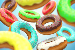 The donuts Royalty Free Stock Photos