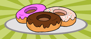 Donuts illustrations Stock Photos
