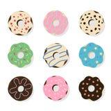 Donuts illustrations set. Stock Image