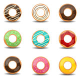 Donuts. This image is a vector illustration.Donuts Stock Image