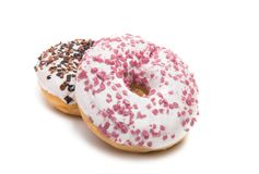 Donuts isolated. On white background Royalty Free Stock Photography