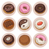Donuts isolated set Royalty Free Stock Images