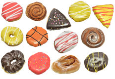 Donuts Isolated On White Background Stock Photos