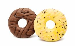 Donuts isolated Stock Images