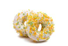 Donuts isolated. On white background Royalty Free Stock Photo