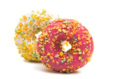 Donuts isolated. On white background Stock Images