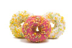 Donuts isolated. On white background Stock Photos