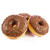 Donuts isolated on white background doughnuts dough Royalty Free Stock Photography