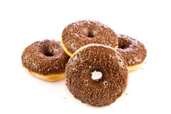 Donuts isolated on white background doughnuts dough Stock Photography