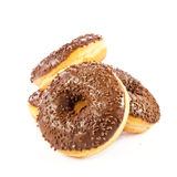 Donuts isolated on white background doughnuts dough Stock Images