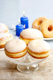 Donuts with jam Royalty Free Stock Images
