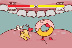 Donuts is ko decayed tooth Stock Photography