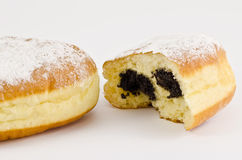 donuts krapfen vallmon Arkivbilder