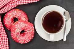 Donuts Läcker efterrätt för te textur planlägg ditt härligt brigham royaltyfri bild