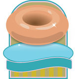 Donuts logo Royalty Free Stock Photography