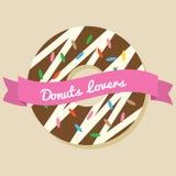 Donuts Lover royalty free illustration