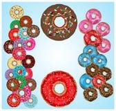 Donuts med isläggning Fotografering för Bildbyråer