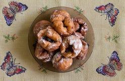 Donuts med körsbäret Royaltyfria Bilder