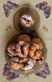 Donuts med körsbäret Royaltyfria Foton