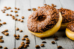 Donuts met chocolade Stock Afbeelding