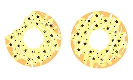 Donuts met sterren Stock Afbeeldingen