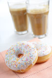 Donuts and milk Stock Image