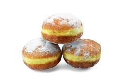 Donuts mit Vanillevanillepudding - Gogosi Stockbilder