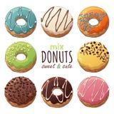 Donuts mix vector illustration