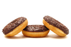 Donuts na białym tle Obrazy Royalty Free