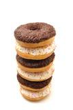 Donuts na białym tle Zdjęcia Stock