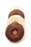 Donuts na białym tle Zdjęcia Royalty Free