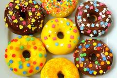 Donuts na białym tle Zdjęcie Stock