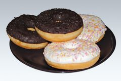 Donuts na talerzu Zdjęcie Stock