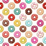 Donuts Naadloos Patroon Stock Afbeelding