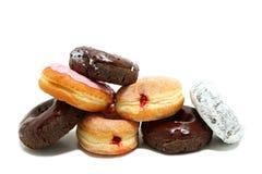 Donuts op elkaar wordt gestapeld die royalty-vrije stock fotografie
