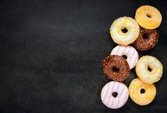 Donuts op Exemplaar Ruimtegebied Stock Afbeelding