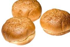 Donuts op wit Stock Fotografie