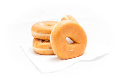 Donuts op witte achtergrond Stock Foto