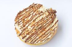 Donuts på en vit bakgrund. Royaltyfria Foton