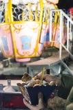 Donuts på nöjesfält royaltyfri foto